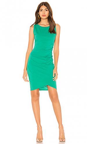 Платье-майка Bobi. Цвет: зеленый