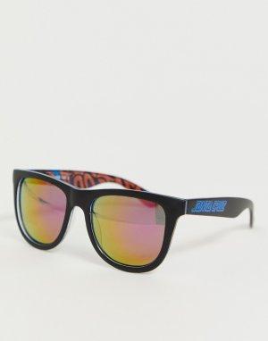 Черно-фиолетовые солнцезащитные очки Santa Cruz. Цвет: черный