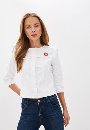 Куртка джинсовая Liu Jo White Label. Цвет: белый