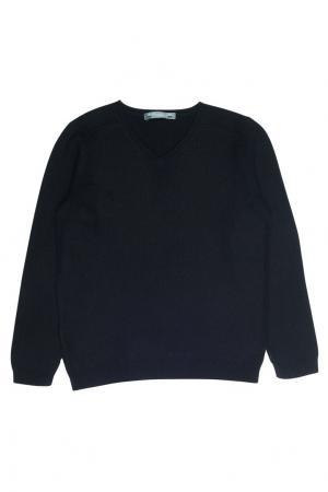Кашемировый черный пуловер Bonpoint. Цвет: черный