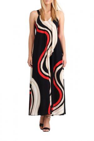 Платье макси Apart. Цвет: черный, мультицвет