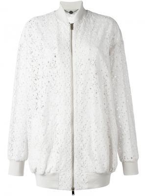 Куртка-бомбер Simone Stella McCartney. Цвет: розовый