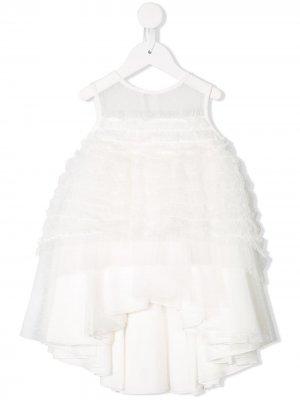 Платье из тюля Aletta. Цвет: белый