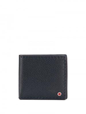Классический бумажник Kiton. Цвет: синий