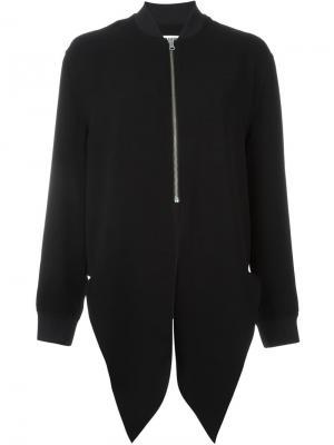 Драпированная куртка-бомбер McQ Alexander McQueen. Цвет: чёрный
