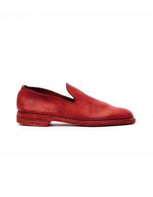 Красные кожаные лоферы Guidi