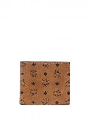 Бумажник с принтом Visetos MCM. Цвет: коричневый