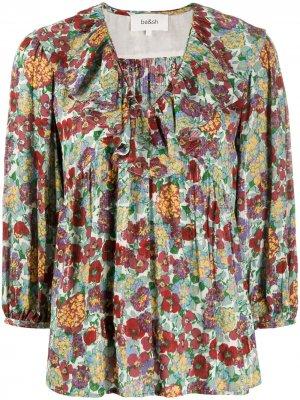 Блузка Polly с V-образным вырезом и цветочным принтом Ba&Sh. Цвет: красный