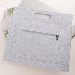 Фетровая сумка для ноутбука 13 дюймов SHEIN. Цвет: серый