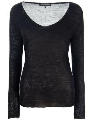 Тонкий пуловер из кашемира Alexander Terekhov. Цвет: черный