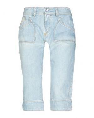 Джинсовые брюки-капри DIESEL. Цвет: синий