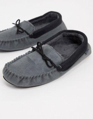Слиперы-мокасины с подкладкой из искусственного меха серого цвета -Серый Totes