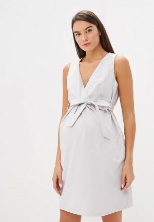 Платье 9Месяцев 9Дней. Цвет: серый
