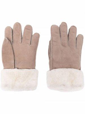 Перчатки с подкладкой из овечьей шерсти Parajumpers. Цвет: нейтральные цвета