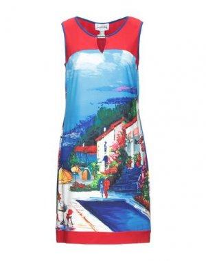 Короткое платье JOSEPH RIBKOFF. Цвет: лазурный