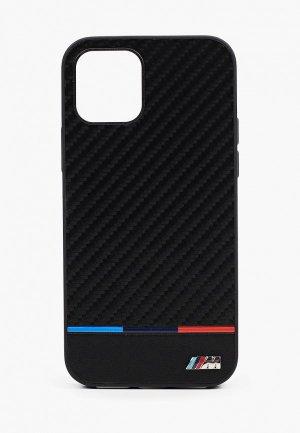 Чехол для iPhone BMW 12/12 Pro (6.1), M-Collection PU Carbon inspiration Tricolor Black. Цвет: черный