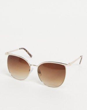 Oversized солнцезащитные очки Glamour-Золотистый French Connection