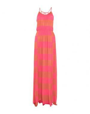Длинное платье F**K PROJECT. Цвет: ржаво-коричневый