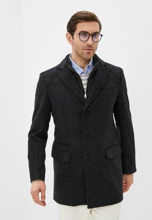 Пальто Al Franco. Цвет: серый