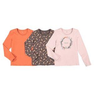 3 футболки LaRedoute. Цвет: розовый
