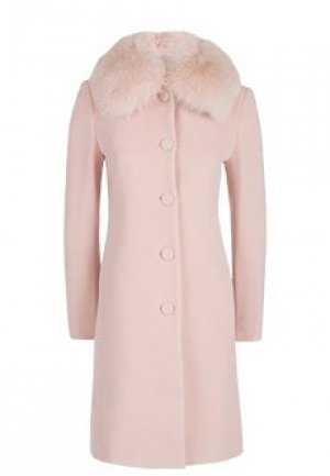 Пальто BLUMARINE. Цвет: розовый