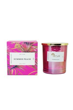 Ароматическая свеча Arya home collection. Цвет: пурпурный