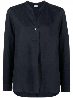 Рубашка с воротником-стойкой Aspesi. Цвет: синий