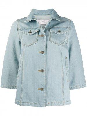 Джинсовая куртка с укороченными рукавами Société Anonyme. Цвет: синий