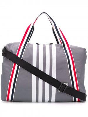 Спортивная сумка среднего размера с полосками RWB Thom Browne. Цвет: серый