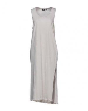Платье длиной 3/4 DR. DENIM JEANSMAKERS. Цвет: светло-серый