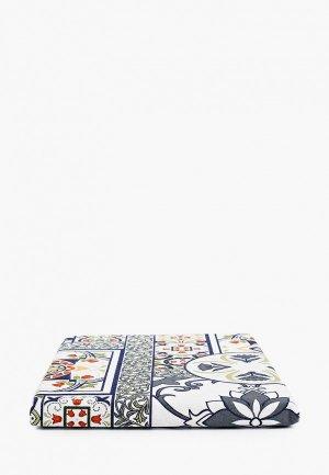 Скатерть Mia Cara Азулежу, 145х145 см. Цвет: разноцветный
