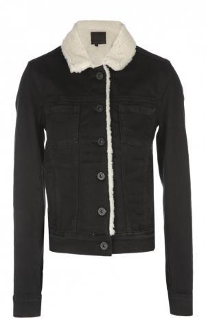 Джинсовая куртка Paige. Цвет: черный