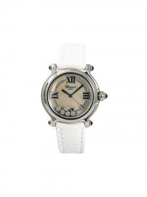 Наручные часы pre-owned Happy Sport 38 мм Chopard. Цвет: белый