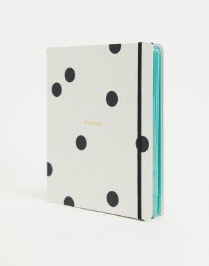 Книга рецептов с обложкой в горошек -Кремовый Kate Spade