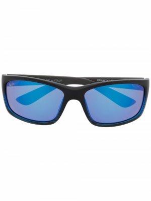 Солнцезащитные очки с гравировкой логотипа Maui Jim. Цвет: серый