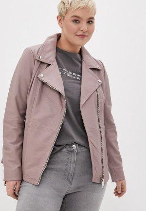 Куртка кожаная Le Monique PA6665LS20/2. Цвет: розовый