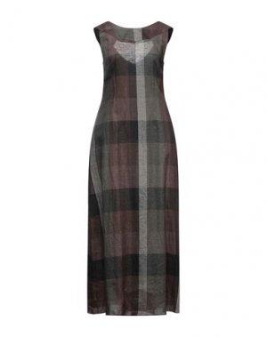 Длинное платье HACHE. Цвет: темно-зеленый