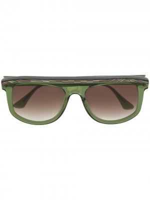Солнцезащитные очки в массивной оправе Thierry Lasry. Цвет: зеленый