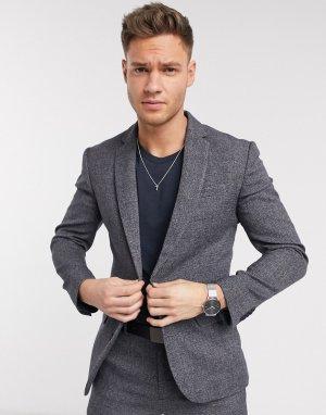 Серый фактурный пиджак New Look