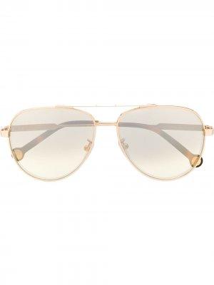SHE150 aviator sunglasses Carolina Herrera. Цвет: золотистый