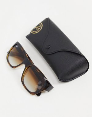 Солнцезащитные очки в черепаховой расцветке с квадратными стеклами 0RB4194-Коричневый цвет Ray-Ban