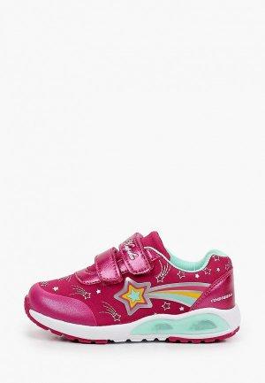 Кроссовки Kapika со светодиодами. Цвет: розовый
