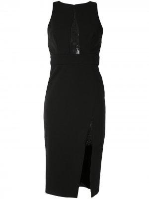 Платье миди с вырезами и кружевными вставками Jay Godfrey. Цвет: черный