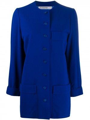 Пиджак 1990-х годов с круглым вырезом Jean Louis Scherrer Pre-Owned. Цвет: синий