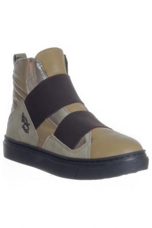 Ботинки Braccialini. Цвет: золотой