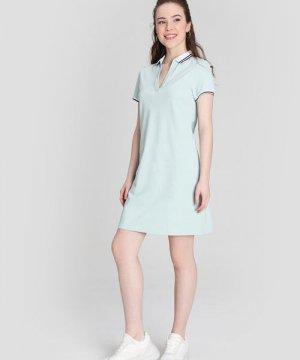 Платье-поло O`Stin. Цвет: ментоловый