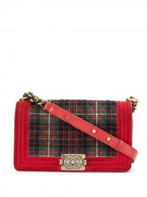 Сумка Paris-Edinburgh Boy Chanel Pre-Owned. Цвет: красный
