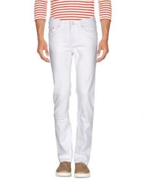 Джинсовые брюки ACNE STUDIOS. Цвет: белый