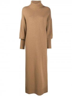 Трикотажное платье с высоким воротником Opening Ceremony. Цвет: коричневый