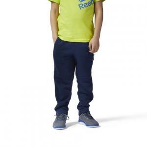 Трикотажные брюки Reebok. Цвет: collegiate navy